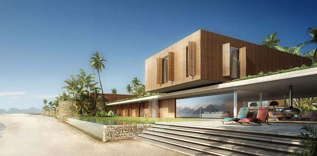 Luxury villa on Ha Long bay in Vietnam
