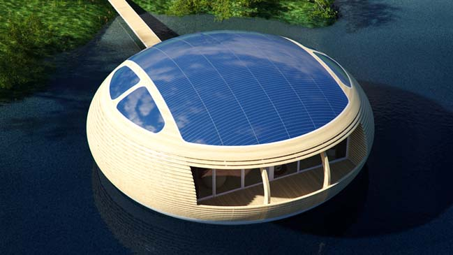 Floating WaterNest 100 Home by Giancarlo Zema
