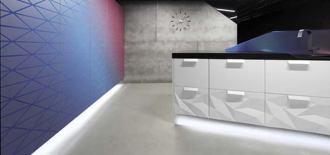 artica kitchen design with 3d surface - Artica Designs