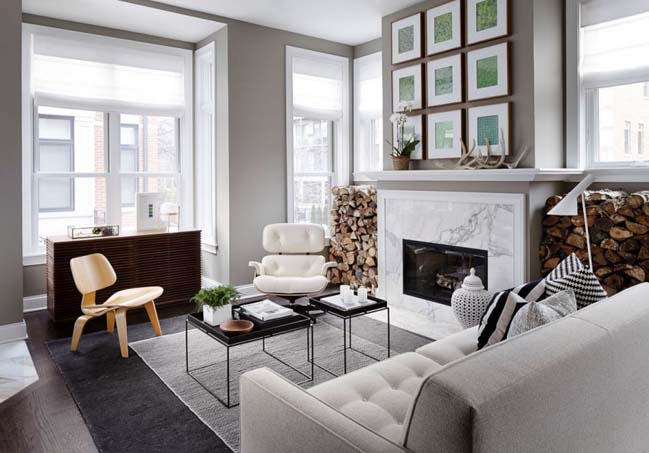 Gray chic townhouse in Chicago