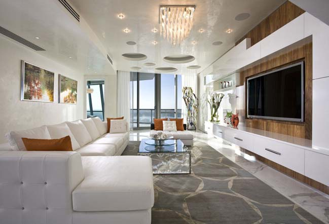 Luxurious Penthouse Dramatic Interior Luxury Penthouse In Florida USA