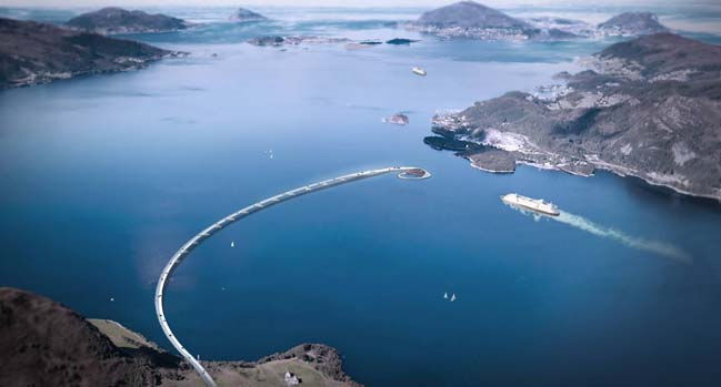 Rovdefjordbrua: A floating bridge in Ålesund, Norway
