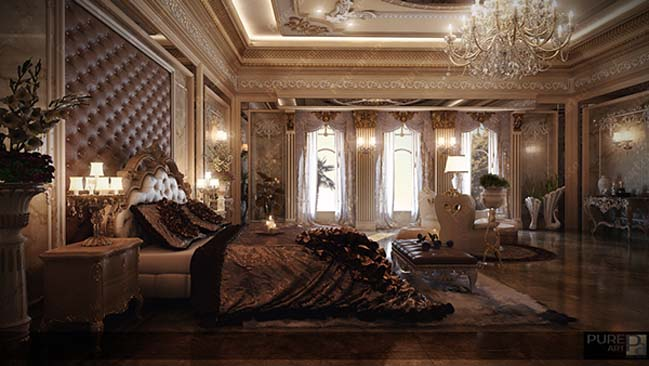 Luxury master bedroom by pure art for Luxury master bedroom designs