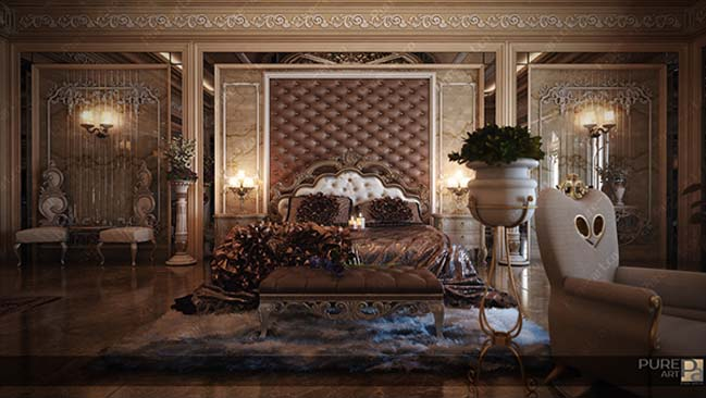 Luxury master bedroom by Pure Art
