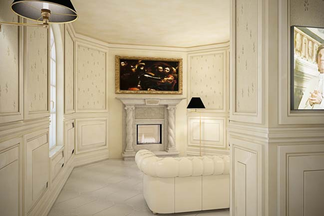 Neoclassical house luxury villa in italy for Neoclassical bathroom designs