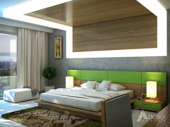 Master bedroom design by adoro design for Bed dizain image