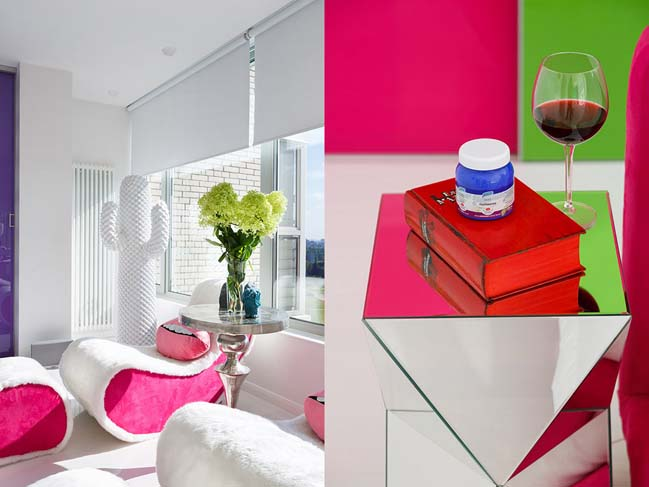 Colorful contemporary apartment in St. Petersburg