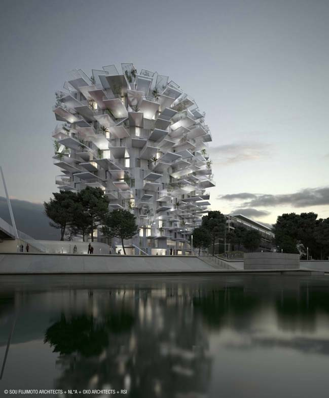 The White Tree: Mixte Use Tower in Montpellier, France