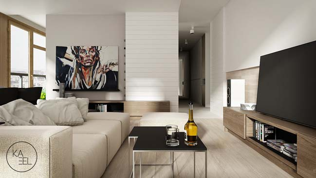 Cozy modern apartment in Poland by Kaeel Group