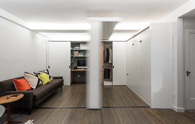 Small apartment with moving wall by mkca House with movable walls