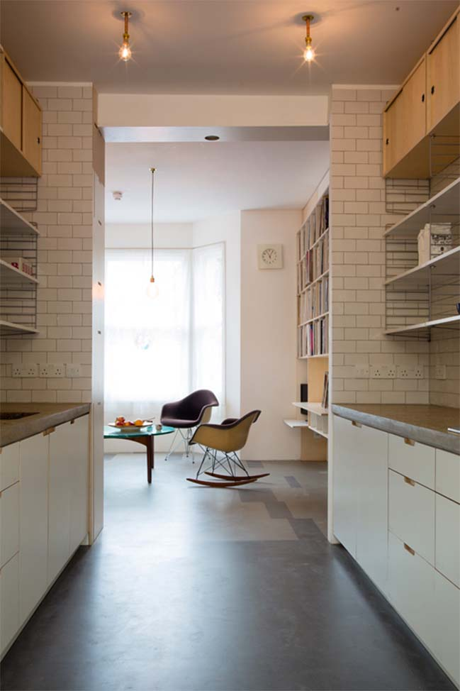 Brick townhouse in London by Tsuruta Architects