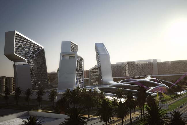 Futuristic architecture: Vertical Village in Dubai, UAE