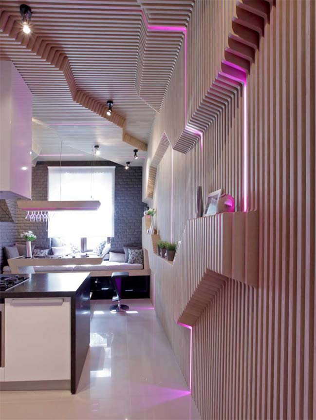 Wonderful sci-fi kitchen design by geometrixdesign