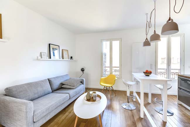 Small flat 30sqm in Paris by Richard Guilbault