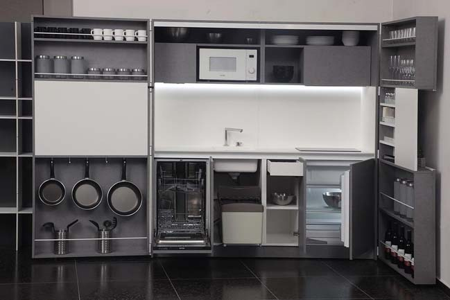 Pop-up kitchen PIA: Perfect solution for small house