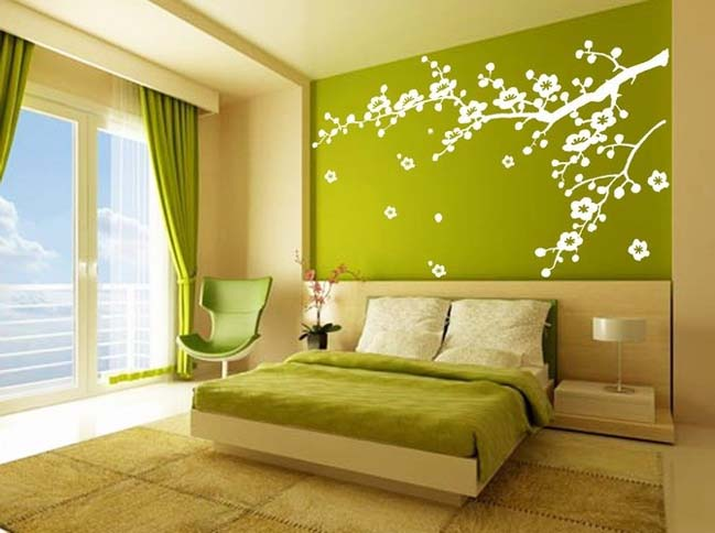 11 bedroom designs with green colour - Green Bedroom Design