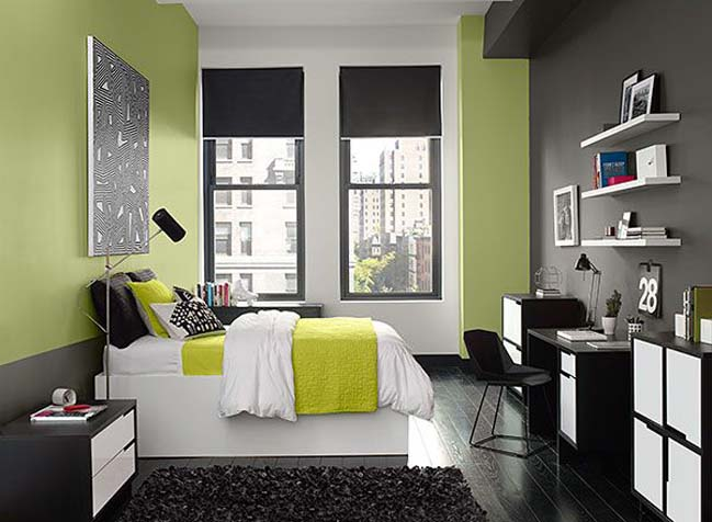 11 bedroom designs with green colour