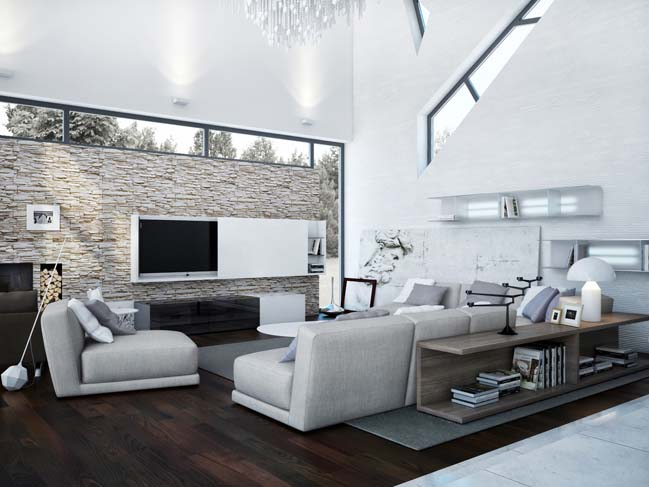 Modern white villa in Ukraine