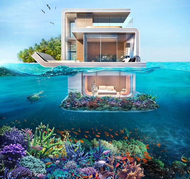 Floating seahorse ultra luxury villa in dubai - The floating homes of dubai luxury redefined ...