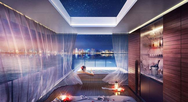 Floating Seahorse: Ultra luxury villa in Dubai