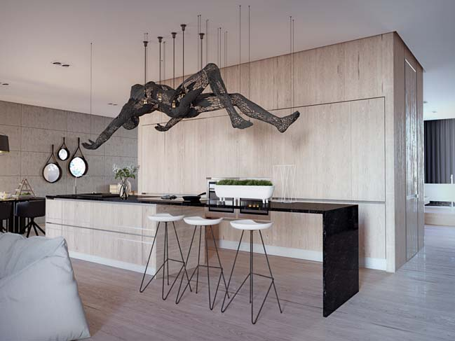 Contemporary apartment 88designbox for Crazy interior designs