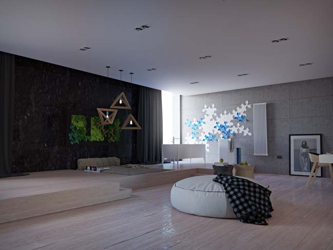 Cosy modern apartment in Kiev by One Design