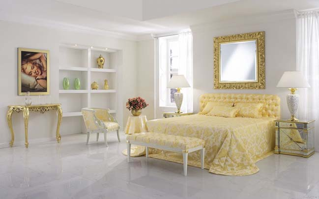 Luxurious upholstered beds by Finkeldei