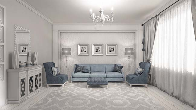 Dessigned By Arsen Zhumakhanov This Elegant Living Room Design Has