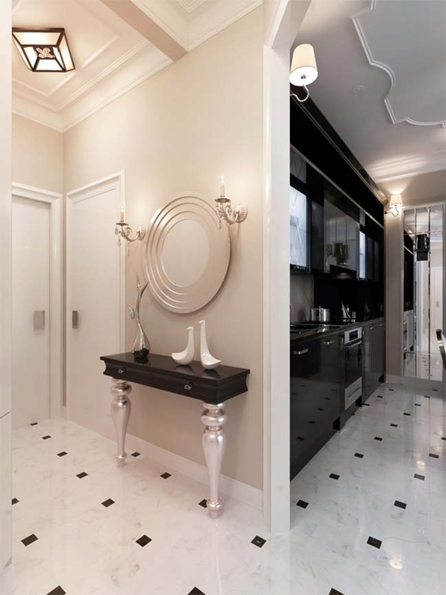 Luxury apartment with neoclassical style