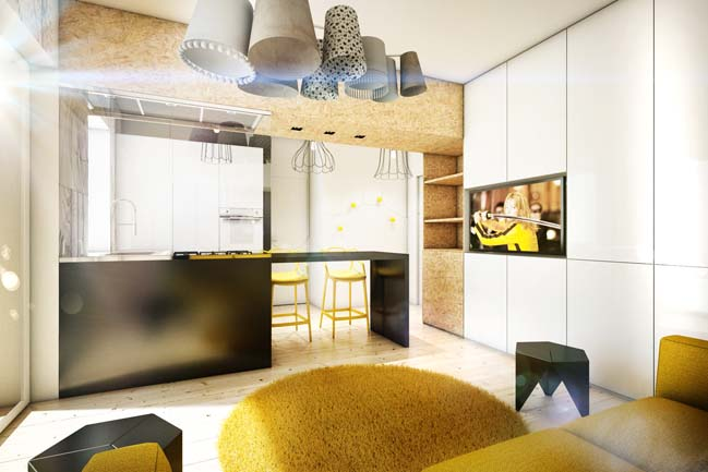 Yellow Touch Apartment by Brain Factory