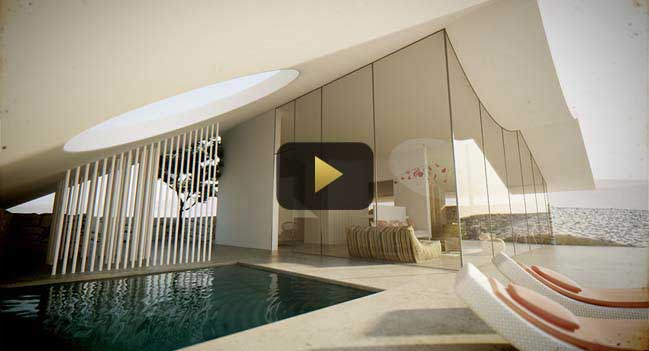 Luxury villa in desert video by Studio Aiko