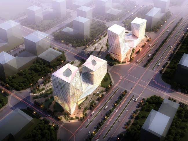 Datong Twin Towers by Plasma Studio