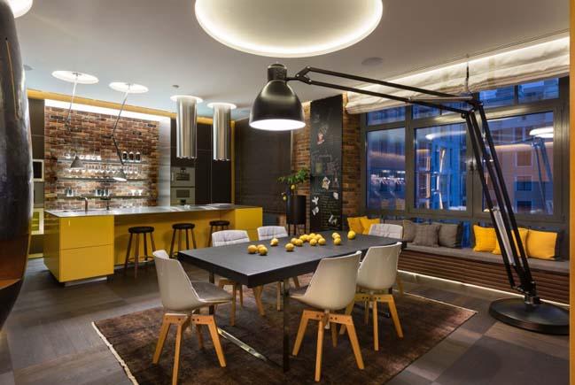 Hi-tech apartment in Kyiv by Baraban Design Studio