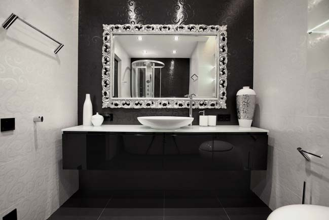 Black and white apartment in Russia