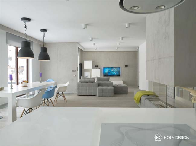 Minimalism apartment with shade of white