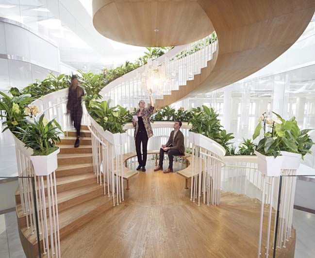 Living Staircase in London by Paul Cocksedge Studio