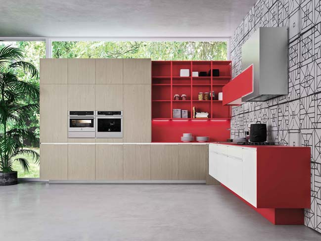 Orange Evo: Modern kitchen design by Michele Marcon Design