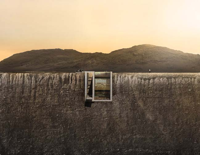 Amazing conceptual cliffside villa by OPA