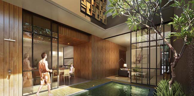House of melati modern townhouse in indonesia for House interior design jakarta