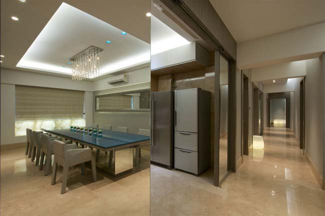 High End Apartment in India by ZZ Architects