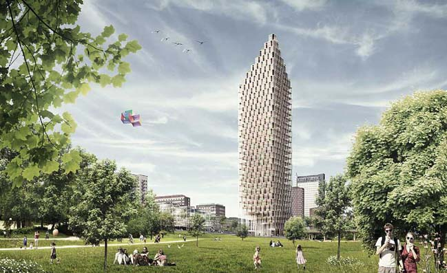 Västerbroplan: High-rise wooden architecture by C.F.Møller