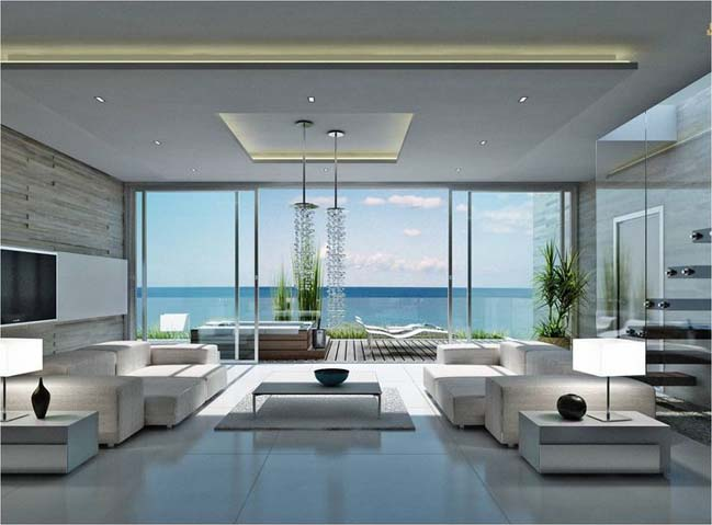 12 living room ideas with luxury modern interior design for Modern luxury apartment design