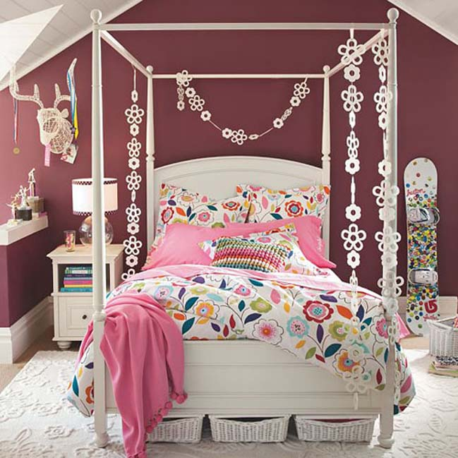 bedroom designs ideas for teenage girls - Teen Girls Bedroom Decorating Ideas