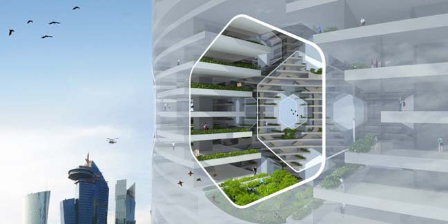 Vertical city future buildings architecture concept Concept buildings