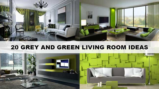 Stunning House Room Ideas. 20 stunning grey and green living room ideas