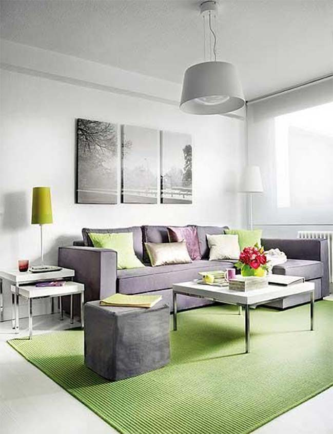 20 stunning grey and green living room ideas for Living room decor 2015