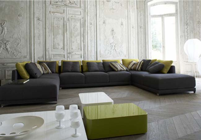 Grey And Dark Green Living Room stunning grey and green living room ideas