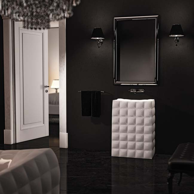 Luxury bathroom design inspired by glamour fashion
