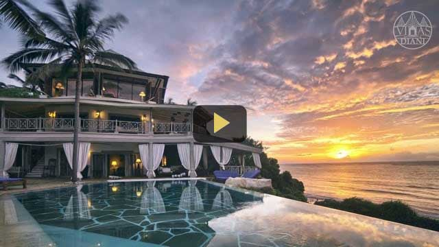 Luxury beach villa in Kenya