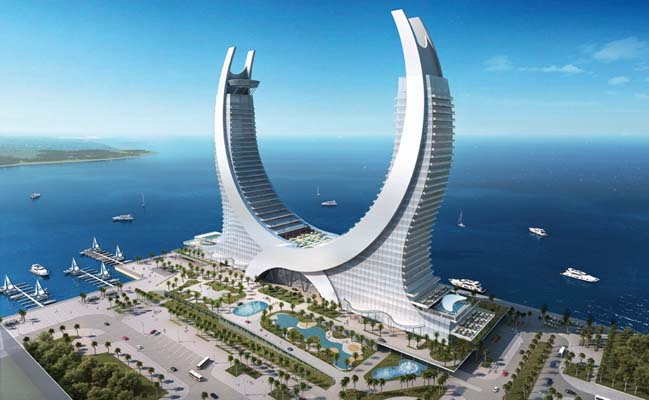 Amazing architecture of Katara Hotel in Doha, Qatar